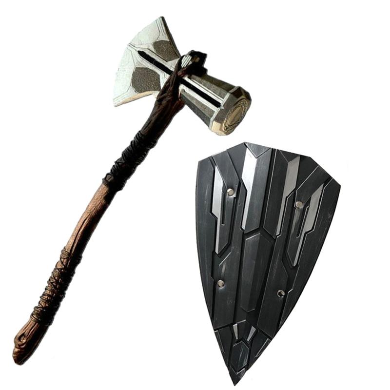 Shield Thor Hammer Mjolnir Thor War Weapons Cosplay High