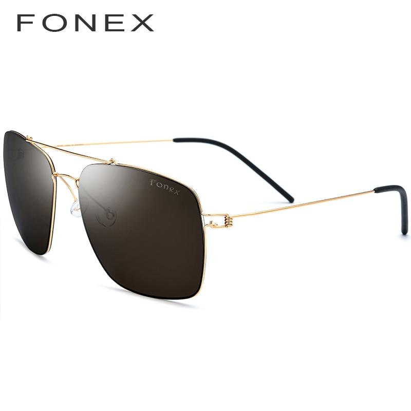 Titanium Alloy Polarized Sunglasses Men Ultralight 2019 Brand Designer Mirror Oversize Square Sun Glasses for Men Eyewear 98622