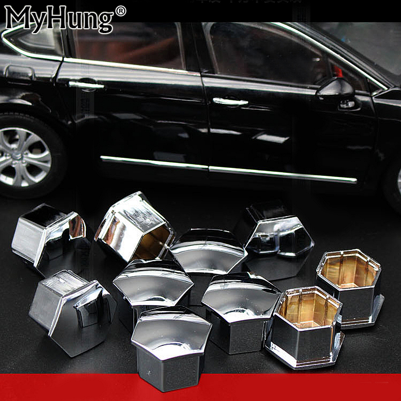 Wheel Nut Bolt Head Cap Decor Rim Cover For Peugeot 307 308 408 206 207 301 Citroen C4l C5 C2 16pieces Car Accessories
