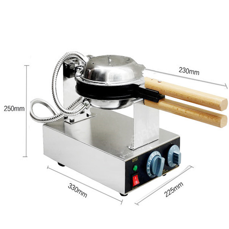 110v/220v egg waffle machine egg waffle iron Bubble Waffle machine Electric Eggettes Egg Waffle Maker FY-6 directly factory price commercial electric double head egg waffle maker for round waffle and rectangle waffle