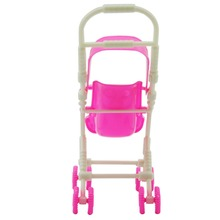 Pink Strollers For Doll Car Detachable Shade Furniture Children Toys Assemble Dolls Cart for Doll Toys Accessories for Dolls Toy