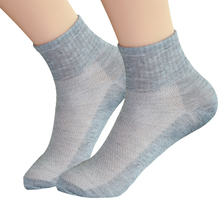 5Pair Summer Mesh Short Socks Comfortable Male Ankle Low Cut Socks Fashion Pure Color Casual Dress
