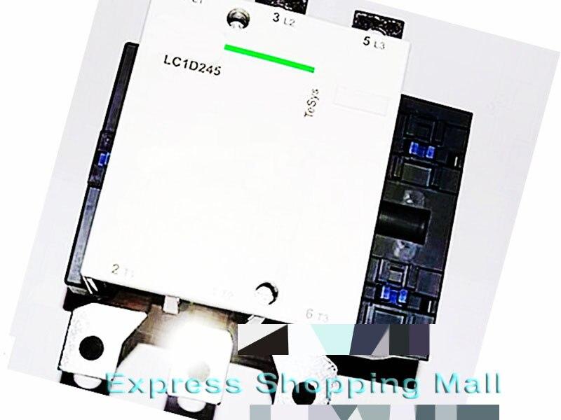 New LC1D245M7C TeSys D Contactor 245A AC 220V 50/60Hz LC1-D245M7C new cad32mdc dc220v tesys d series contactor control relay 3no 2nc