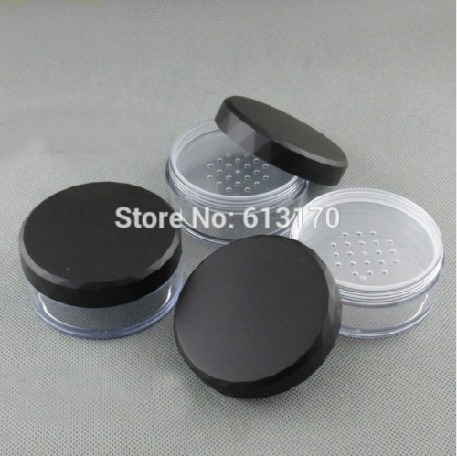50g cream jar loose powder jar with mesh Sifter powder jar nail art box sub-boxing jar free shipping