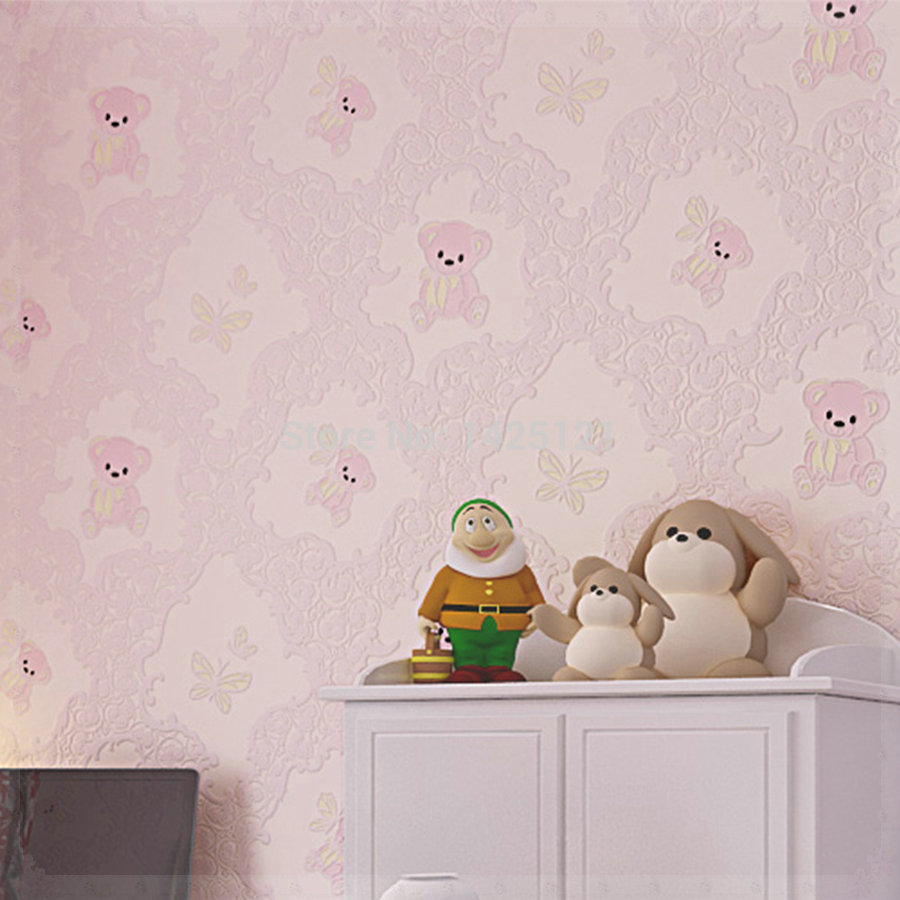 children 39 s room wallpaper cartoon 3d wall paper decoration. Black Bedroom Furniture Sets. Home Design Ideas