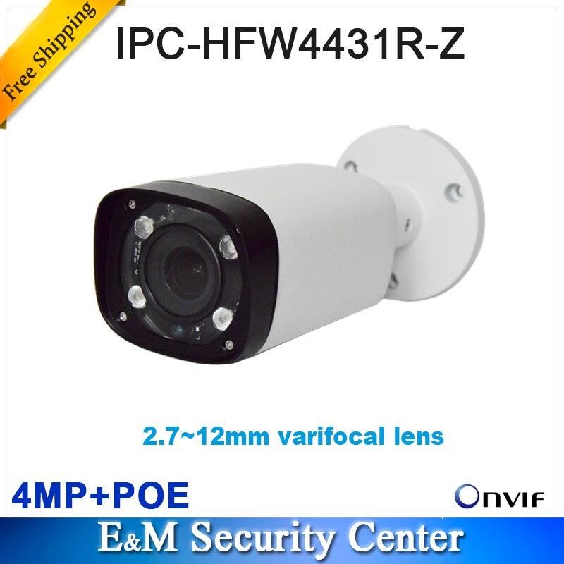 dh ipc hfw4431r z - Original dahua IPC-HFW4431R-Z without dahua logo IR replace IPC-HFW4300R-Z motorized VF lens network POE IP H.265 bullet camera
