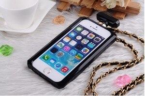 Image 5 - For iPhoneX XR XS 6s 7 8Plus 11 12 Pro MAX Luxury Perfume Bottle TPU Soft Phone Case Handbag With Chain Phone Back Cover Fundas