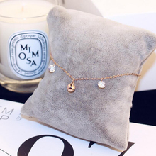 Metal Round Shape Anklets For Women  Indian Chain Rose Gold Color Ankle Fashion Micro Set Zircon Foot Chain Foot Bare Chain