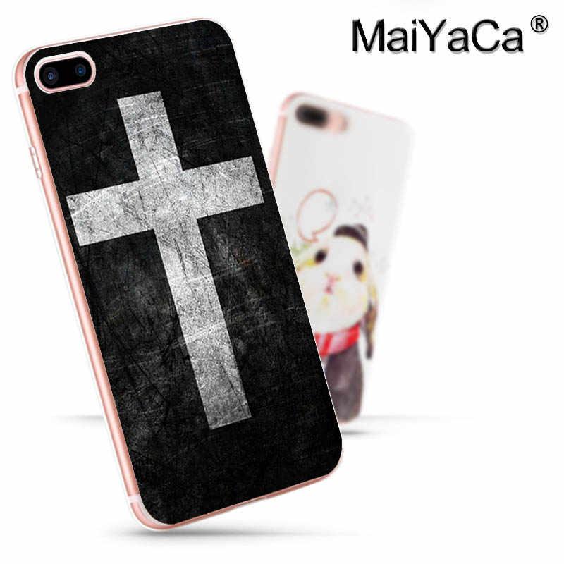 MaiYaCa Para iphone 7 6 X Caso versículo Da Bíblia Filipenses Jesus Cristo Christian 6s X 8 7 Caixa Do Telefone para iphone 6 Plus 5 5S SE Coque