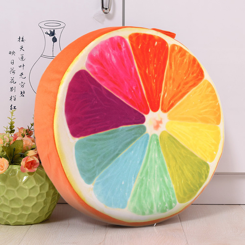 Pillows for Chairs 3D Summer Fruit Cushion Office Chair Back Cushion Sofa Throw Pillow H ...