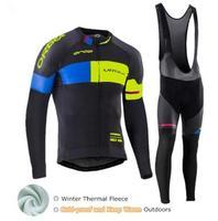 Orbea Winter Cycling Jerseys 2017 Pro Team Maillot Cycling Set Thermal Fleece Bike Wear Clothing Ropa