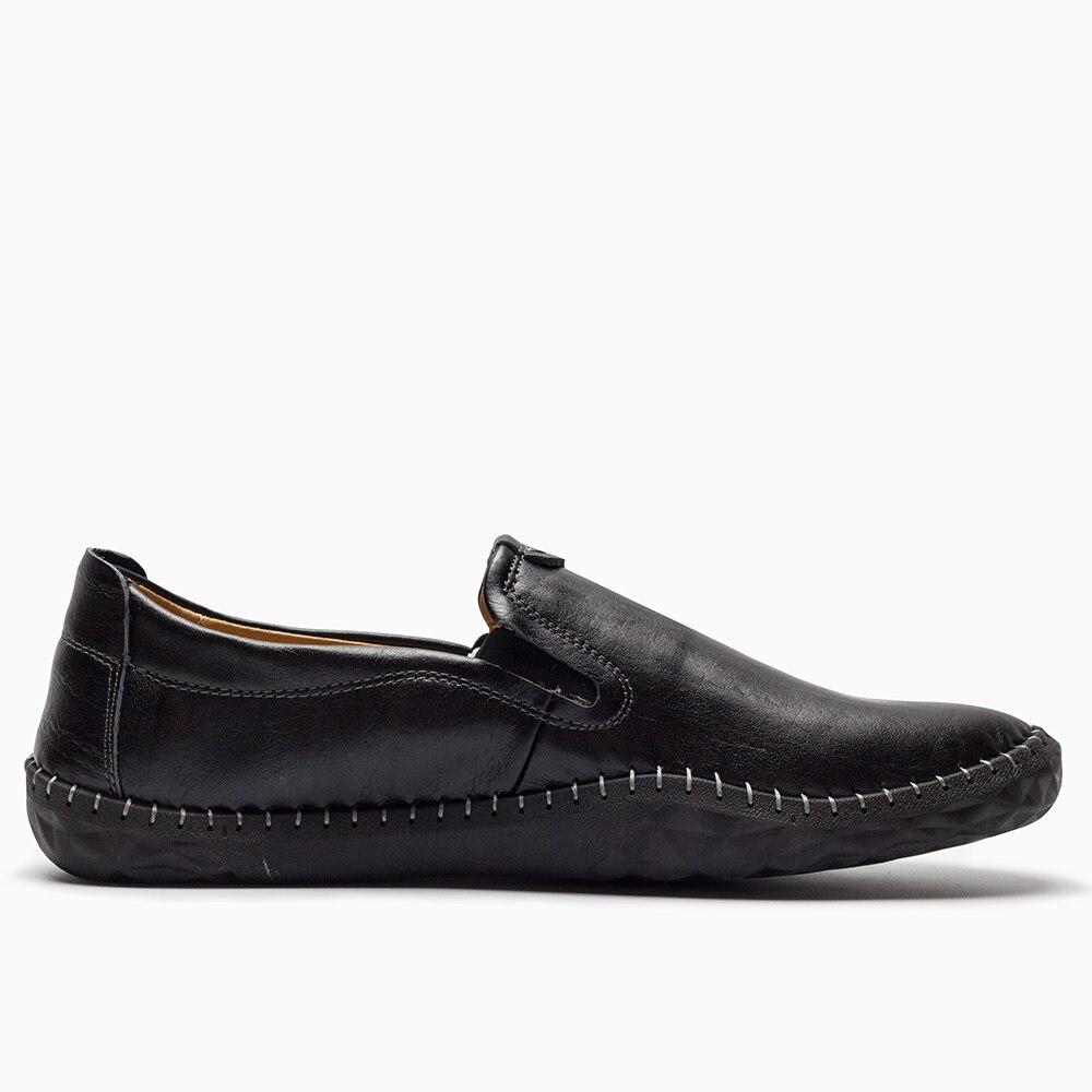 Marée Casual Noir En Rétro Bas Nouveau Cuir on Main Hommes blanc Britannique jaune De Slip Mocassins 2018 Chaussures Printemps Style fq8gaa