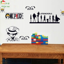 One Piece Cartoon Wallpaper For Kids Rooms Home Decor Art Decals 3D Sofa Bedroom house decoration DIY Vinyl Wall Stickers
