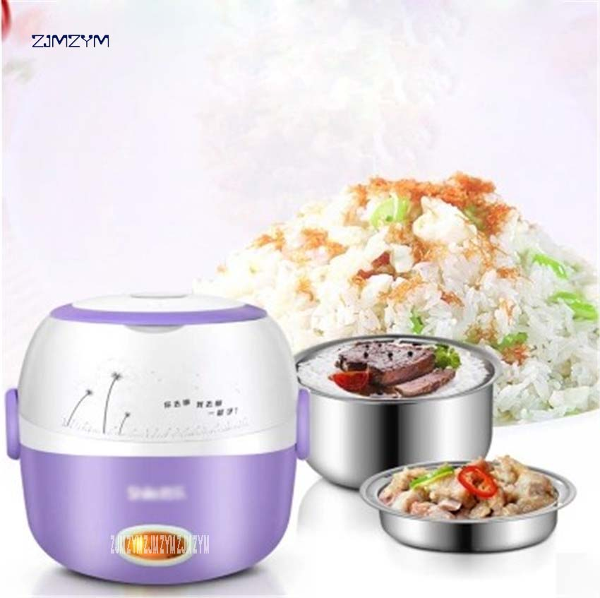 Portable Electric Rice Cooker 1.3L Insulation Heating Electric Lunchbox 2 Layers FH800 Multifunction Automatic Food Container