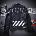 OFF WHITE Mens Women Jackets and Coats Pu Leather Coats bomber Brand Clothing kanye west Exo Winter Jaqueta Masculina Outwear