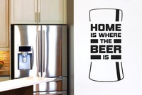Home Is Where The Beer Is Beer Bottle Wall Stickers Decals Art Quotes Vinyl