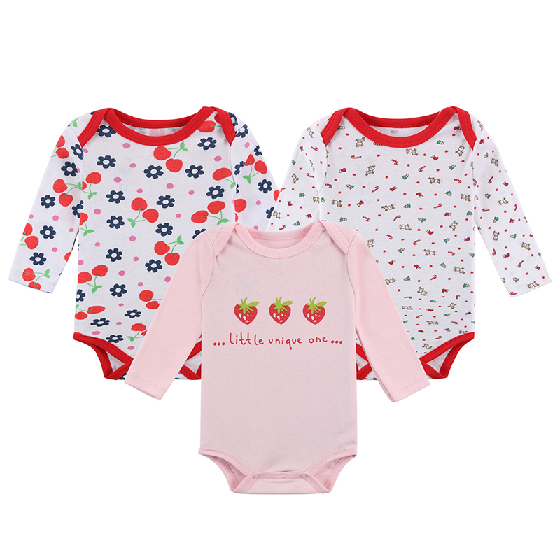 Mother Nest 3pcsLot Thick Cotton Baby Rompers Winter Underwear Long Sleeve Baby Wear Infant Jumpsuit Boys Girls Clothes