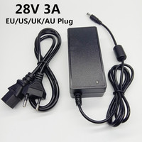 28 V 3A 28V3A Schalt Netzteil AC/DC Adapter 28 Volt Universal Power Adapter Konverter EU UNS UK AU Stecker 5,5 mmx 2,1-2,5mm