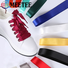 Meetee 2cm Width 5pairs/10pairs Candy Color Ribbon Double-Sided Polyester Satin Glossy Silk Band for Shoelace Accessories AP659