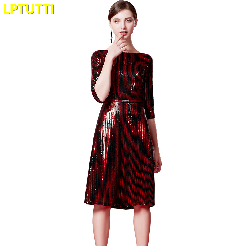 LPTUTTI Sequin New Sexy Woman Social Festive Elegant Formal Prom Party Gowns Fancy Short Luxury Cocktail Dresses