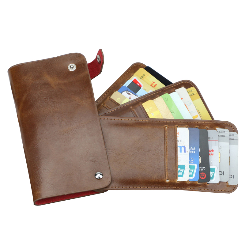 2016 New Leather business card wallet case credit card bag