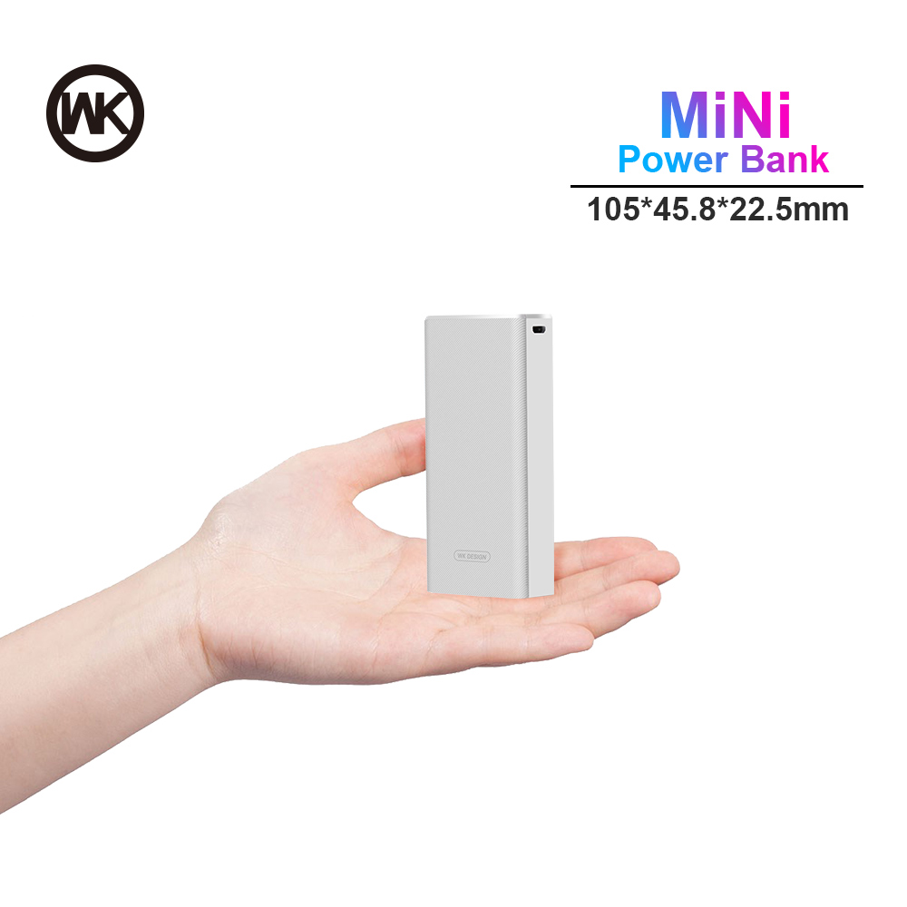WK Power Bank Mini 10000mah Portable Charger Powerbank For IPhone Xiaomi Mi Power Bank External Battery Pack Poverbank Solar