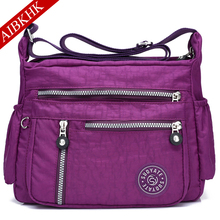 Multi Pocket Waterproof Nylon Crossbody bag for Women 2019 Shoulder Bags Casual Handbag Travel Bag Messenger