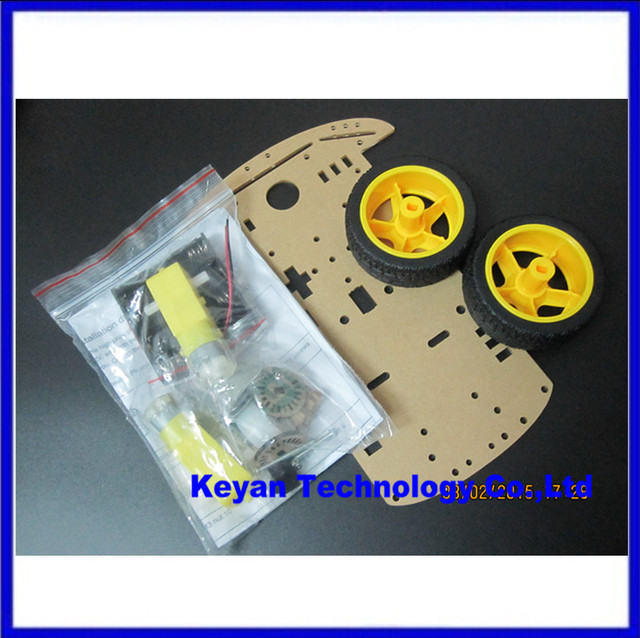 Smart car chassis /Tracing car /The robot car chassis /With code disc / tachometer /Send the battery box