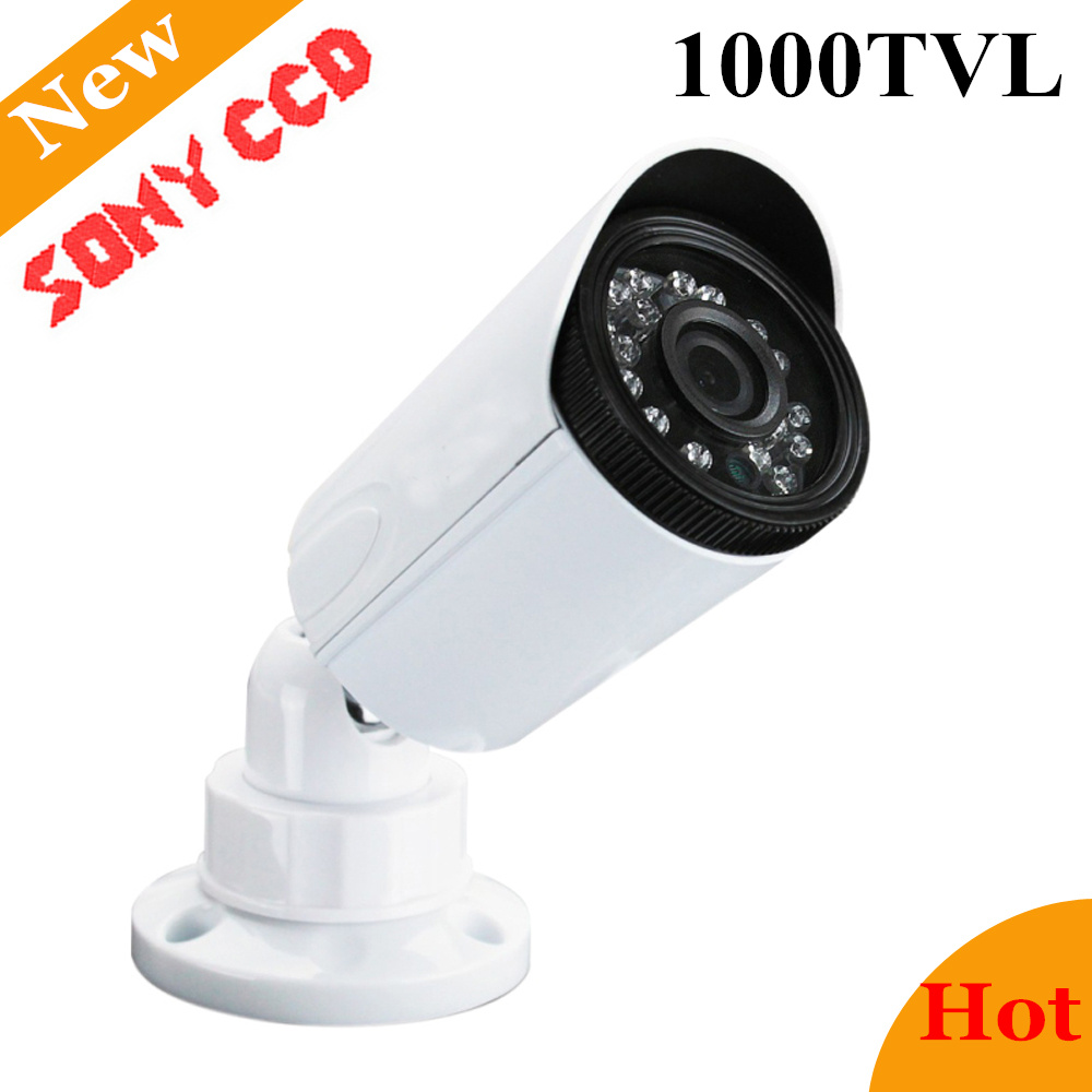 Newest Analog Sony CCD 1000TVL Waterproof Outdoor Security Camera IP66 720p CCTV Camera Home Surveillance Camera CCTV Chamber hd video surveillance camera waterproof bullet cctv camera 1000tvl sony ccd outdoor home security camera