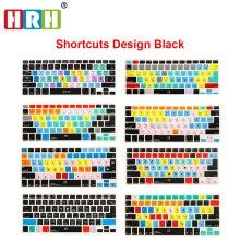 HRH Slim Ableton Live Logic Pro X Avid Pro Tools Shortcut Keyboard Cover Skin For Macbook Pro Air Retina 13 15 17 Before 2016(China)