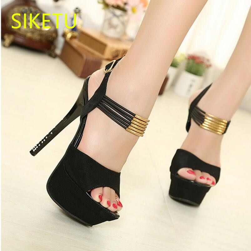 SIKETU 2017 Free shipping Spring and autumn Women shoes High heels shoes Wedding shoes Wild summer