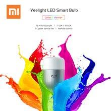 Original Xiaomi Yeelight Colorido Lâmpada LED Inteligente E27 9 w 600 Lumens Mijia Xiomi Telefone de Casa Inteligente Controle Remoto Wi-fi luz