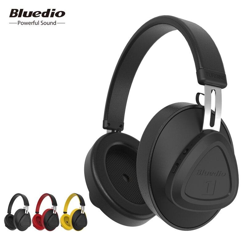 Bluedio TMS inalámbrico de auriculares con micrófono de monitor studio auriculares bluetooth control de voz para música y teléfonos