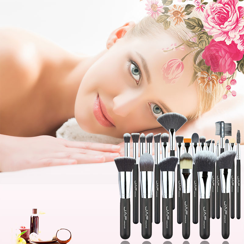Professional Premium 24 pcs Makeup Brush Set High Quality Soft Taklon Her Makeup Artist Brush Tool Kit Makeup Brush Set M03493