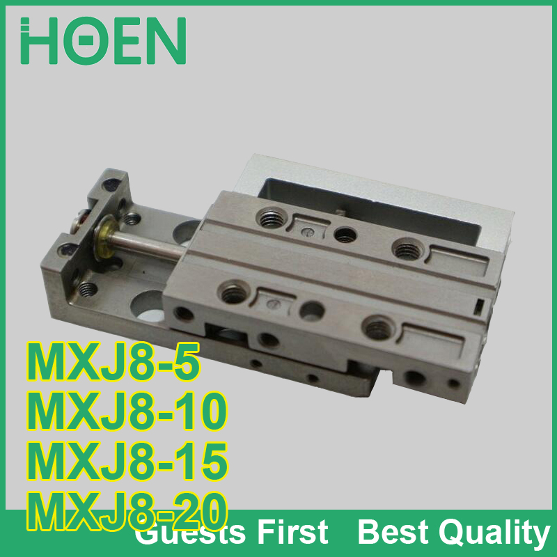 MXJ série glissière d'air table ylinder MXJ8-5 MXJ8-10 MXJ8-15 MXJ8-20 mini vérin pneumatique glissière cylindre