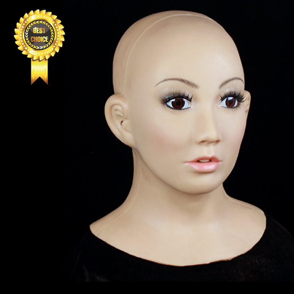Sf 1 Party Crossdress Silicone Latex Halloween Female Mask Props Fixed With
