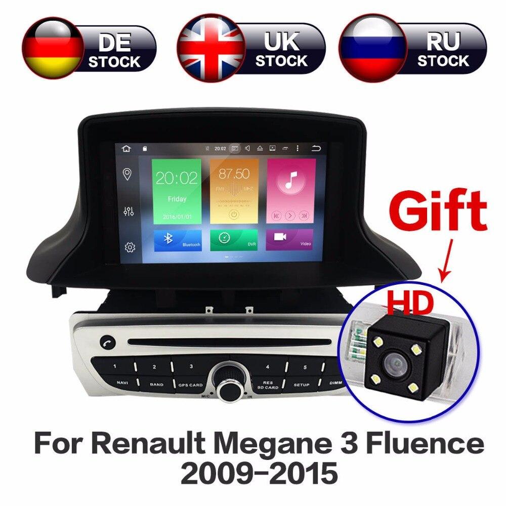 Android 8,0 Octa Core dvd плеер автомобиля 2 DIN gps навигационный стерео блок для Renault Megane 3 Fluence 2009 2015 Бесплатная карта и камера