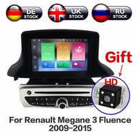 Android 8.1 Car DVD Player GPS Navigation Head Unit For Renault Megane 3 Fluence 2009 2010 2011 2012 2013 2014 2015 Free Camera