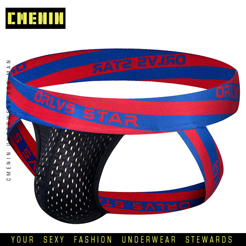 Brand Fashion 3D Pouch Underwear Men Thong Breathable Cotton Sexy Gay Cueca Hombre Men Underwear Jockstrap Men OR206