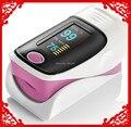 FDA CE JXKH Pink finger pulse oximeter SPO2 PR monitor OLED display waveform 6 Display Modes with Lanyard