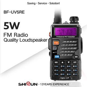 Image 1 - Baofeng UV 5RE Plus Battery 5W Walkie Talkie Dual Band Uhf Vhf 136 174MHz & UHF 400 520MHz UV 5RE Two Way Radio Baofeng UV 5R