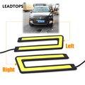 Cob Drl Led Daytime Running Light 2pcs/lot COB U Shape DRL 108LED Daytime Running Light Car Lamps Styling CE