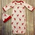 Presente de natal do bebê pijama define newborn 3 Pcs saco de dormir + luvas + chapéu roupas de bebê conjunto romper do bebê bonito