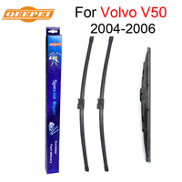 QEEPEI Front And Rear Wiper Blade No Arm For Volvo V50 2004 2006 High Quality Natural