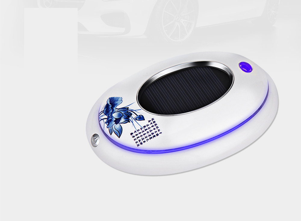 Mini Portable Solar Power Car Air Purifier/Humidifier White Oval USB Rechargeable Ozone Generator High Quality Air Cleaner фильтр для воды katadyn mybottle purifier white flower