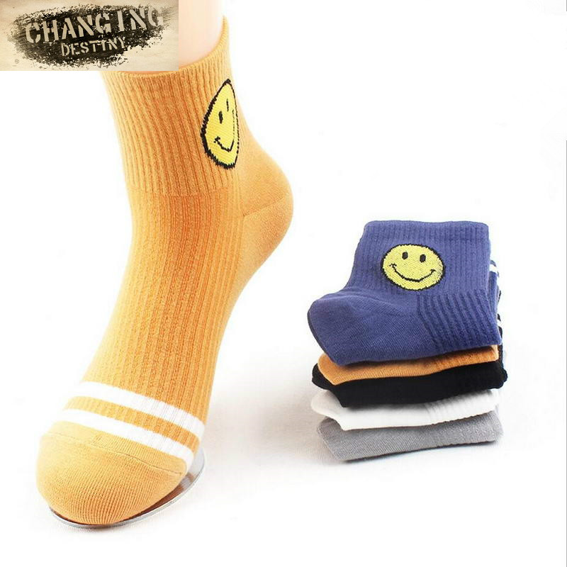 High Quality Unisex Socks Emoji Socks Men Women Cartoon Smile Face Casual Socks Soft Cotton Socks