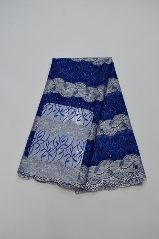 Tissu africain brodé de dentelle de maille tissu français de dentelle de filet 5yds/pc pour la robe de mariée 16. A20 - 1