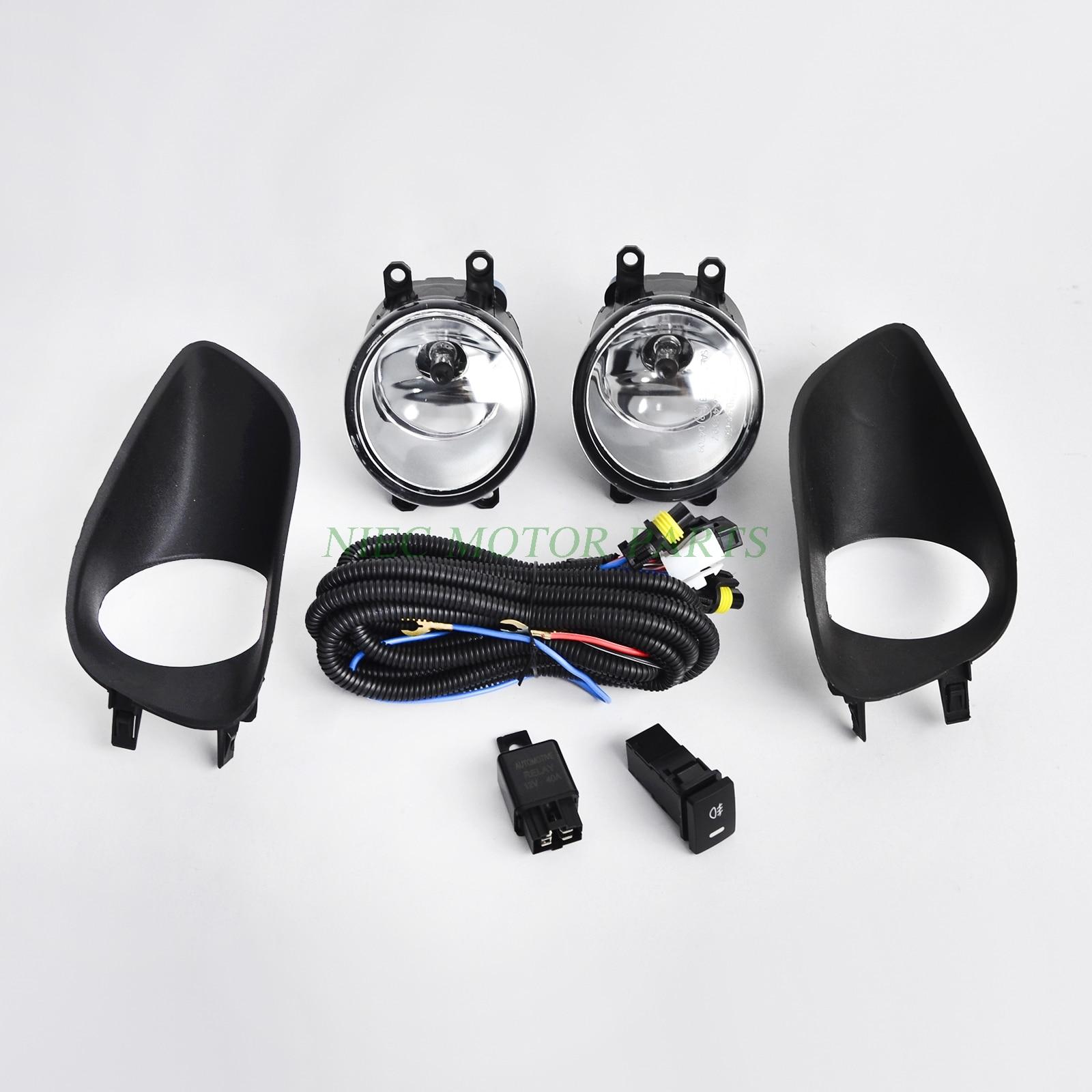 Pair Front Bumper Fog Light Clear w/ Switch For Toyota Yaris 06 11 Sedan 4 Door