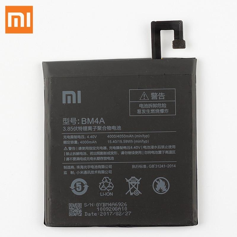 Original Replacement Battery BM4A For Xiaomi Mi Redmi Pro BM4A Authentic Phone Battery 4050mAh