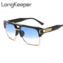 Enormes óculos de Sol Quadrados Mulheres Homens Transparente Claro 90 s  Óculos de Sol Festival Hip Hop Óculos Óculos de Proteção. c8150d59b5